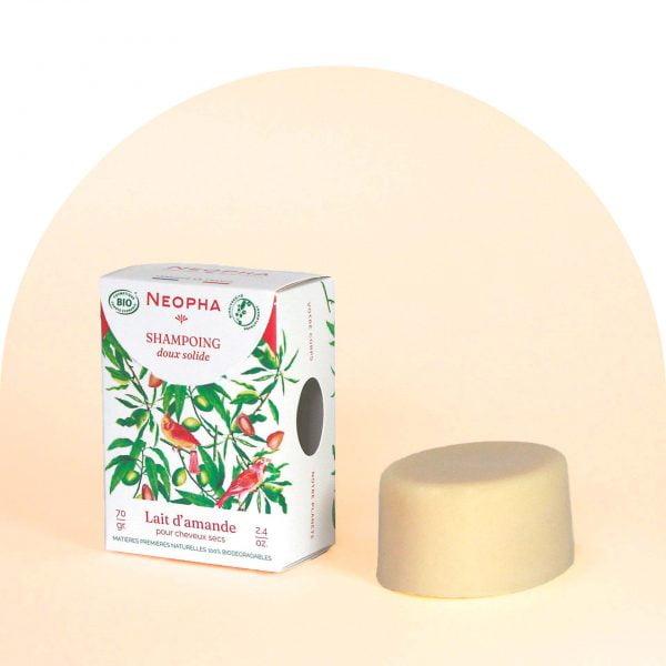 Neopha Shampoing doux lait d'amande 3_4 étui + produit