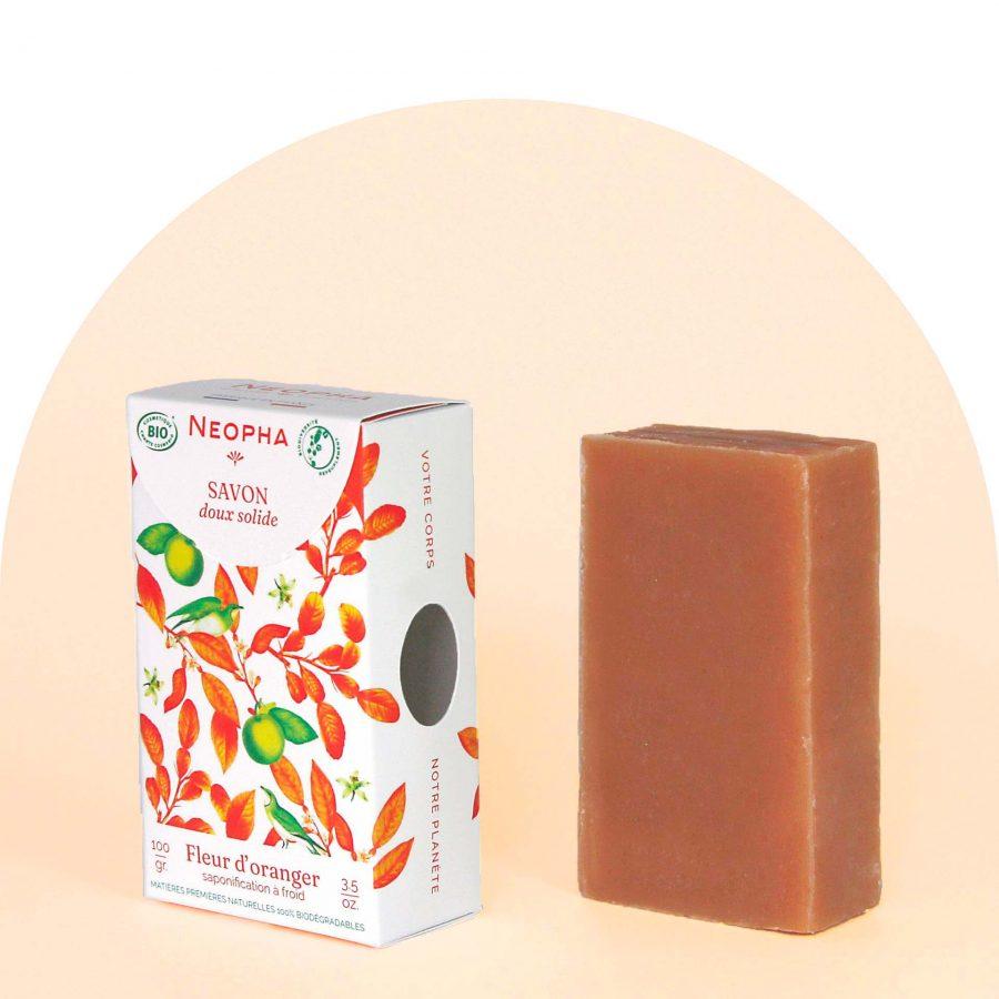 Neopha Savon doux fleur d'oranger 3_4 étui + produit