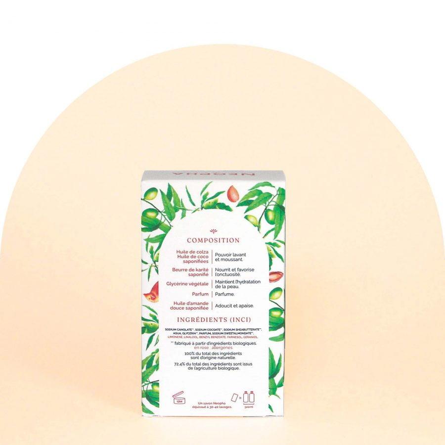 Neopha Savon doux lait d'amande dos