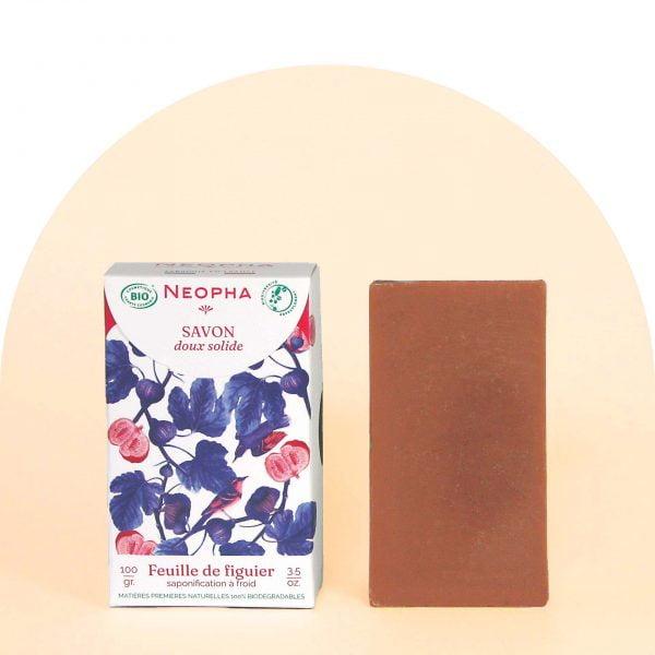 Neopha Savon doux feuille de figuier étui + produit